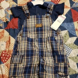 Oshkosh baby overall short set